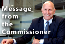 Message from the Commissioner