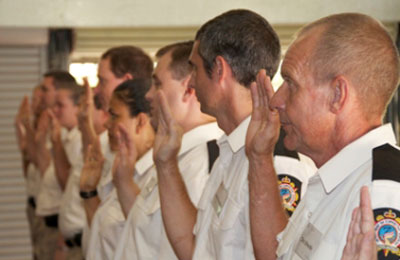 Oath of engagement of new Prison Officers