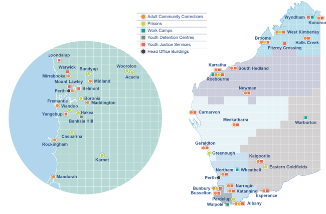 Department of Corrective Services - our locations